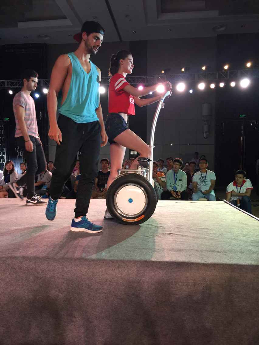 Life is Simple- One Person, One Airwheel Scooter, and One World